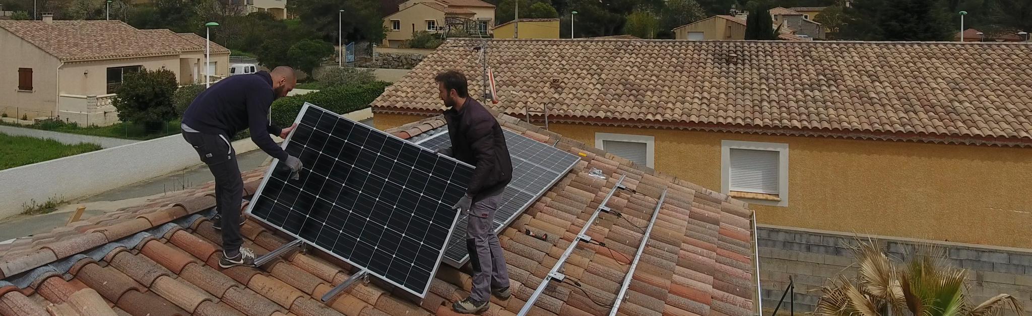 Installation de panneaux solaires en surimposition par Libow
