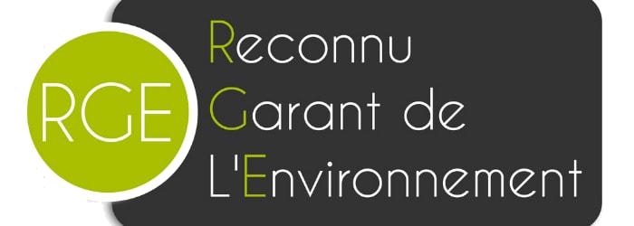 Logo de la mention RGE (Reconnu Garant de l'environnement)