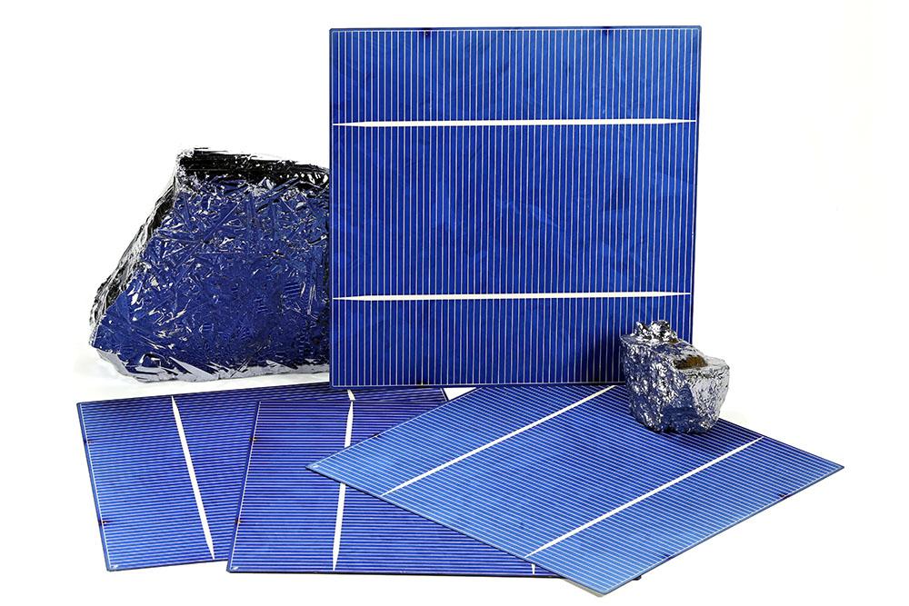 Cellules photovoltaïques et morceaux de silicium