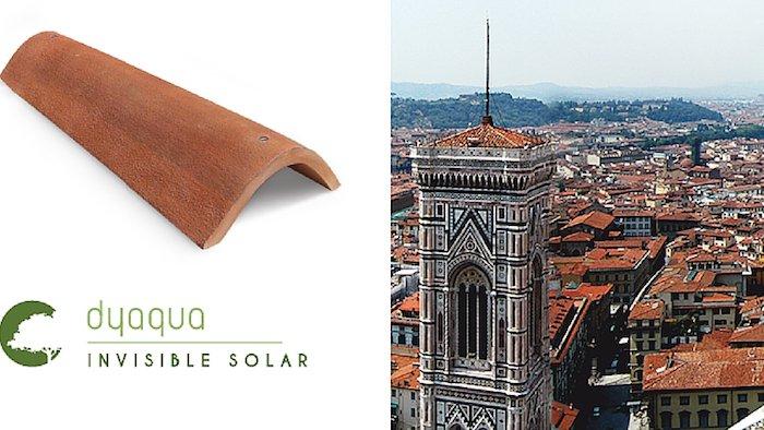 Marque italienne Dyaqua pour les tuiles solaires.