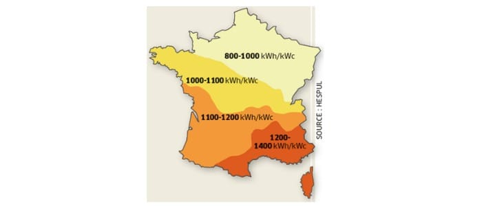 Production solaire par région en France