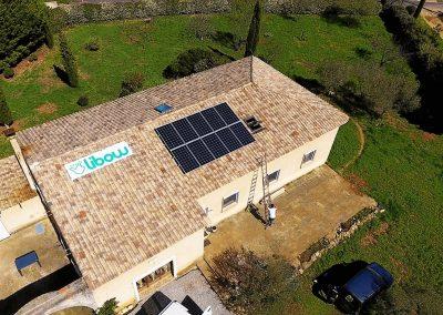 Installation 3 kWc à Puisserguier en mars 2018 avec panneaux ALEO et Optimiseurs de Puissance SolarEdge - image Libow 2019©